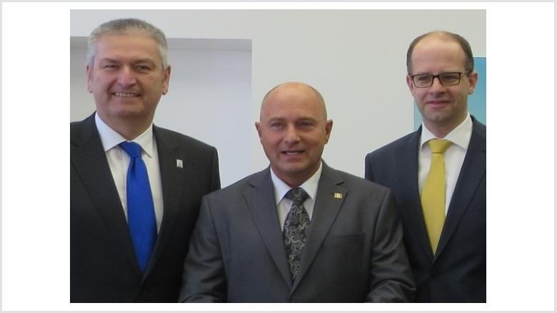 Bernd Woide, Rainer Bomba und Michael Brand